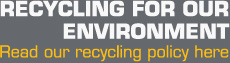 RECYCLING FOR OUR ENVIRONMENT, Read our recycling policy here